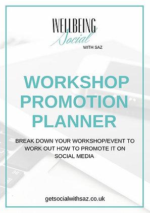 WORKSHOP PROMOTION PLANNER (6 PAGE PDF)