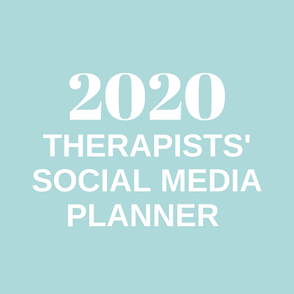 2020 Therapists' Social Media Planner