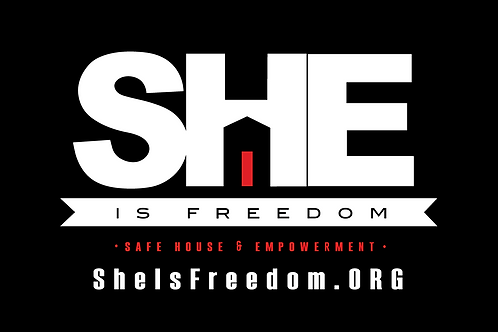 Window Cling - SHE is Freedom Logo
