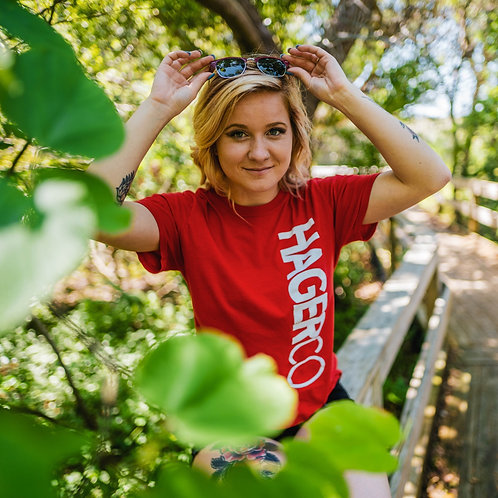Hager Co Side Logo Tee Red