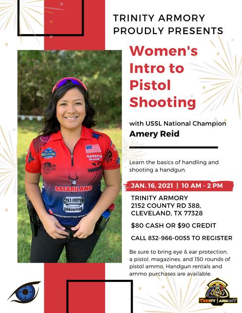 Women's Intro to Pistol Shooting Jan. 20