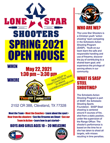 Lone Star Shooters Open House Flyer Spri