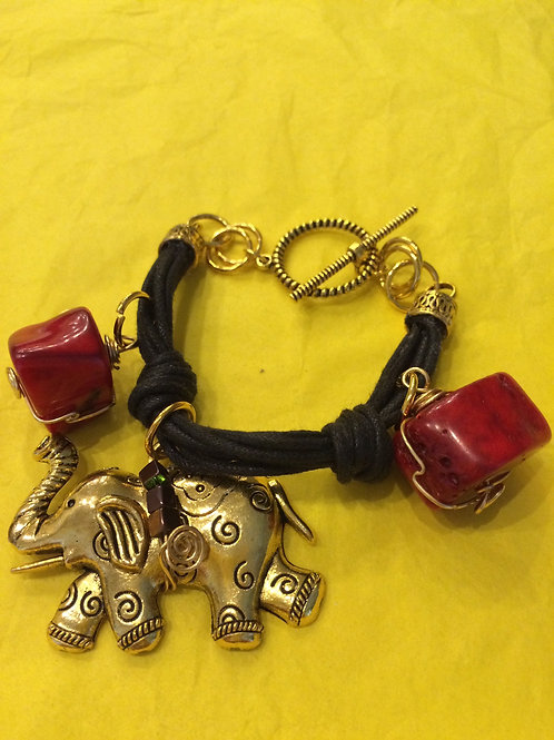 Leather and Cord Bracelet - Cod.217