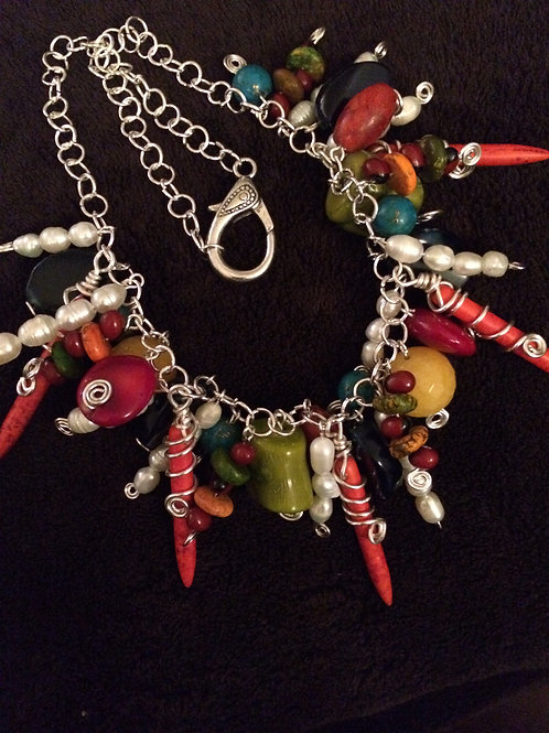 Chain with natural stones - Cod.401