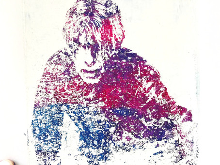 Get your Bowie on....Image transfers on the gel plate...