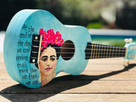 DIY Ukulele an ode to Frida...