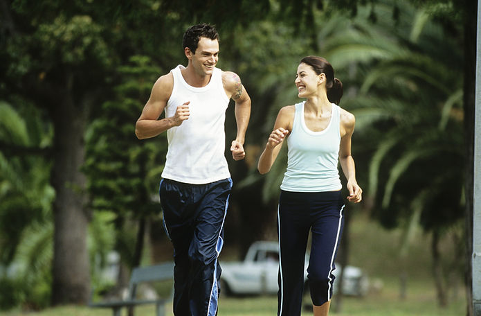 Couple running | Life Balance Fitness UK