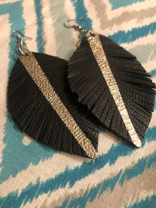 Double Sided Leather Earrings