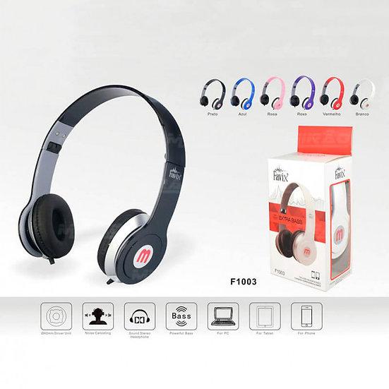 Headphone Extra Bass C/Fio de 1.6M (Favix)