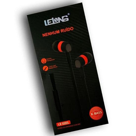 Fone de Ouvido Flat C/Microfone LE-0201 (Lelong)