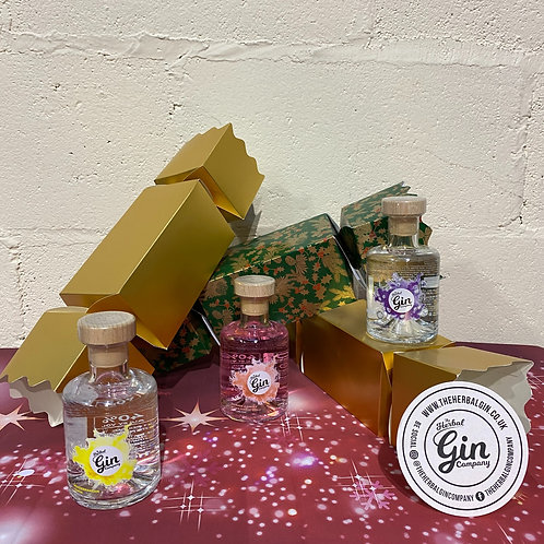 3x 20cl Giant Christmas Gin Cracker