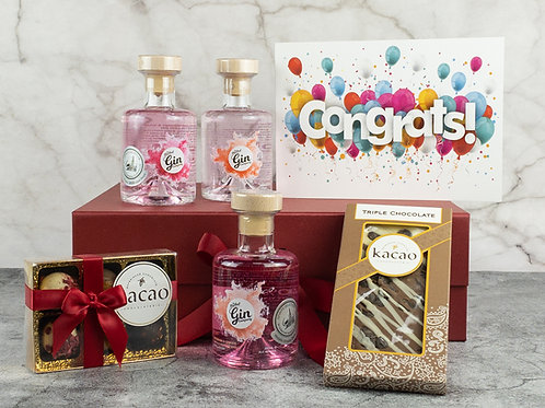 Special Occasion 3 Bottle Gin & Chocolate Gift Set