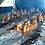 Costelas fogo de chão em grande quantidade