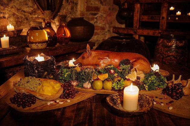Cardápio 10 - Nobreza | 40 Convidados | Buffet Completo | Culinária Medieval