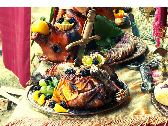 Cardápio 11 - Realeza | 40 Convidados | Buffet Completo | Culinária Medieval