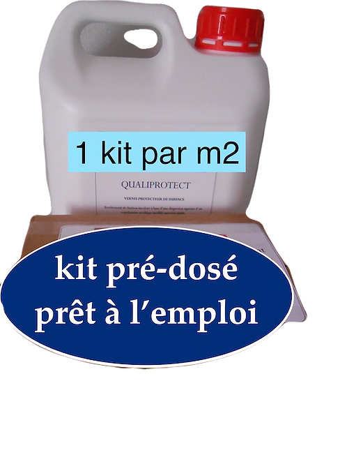 Kit préparation béton drainant + Qualiprotect - Lot de 10
