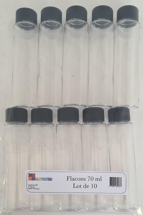Flacon vide 50 ou 75 ml - lot de 10