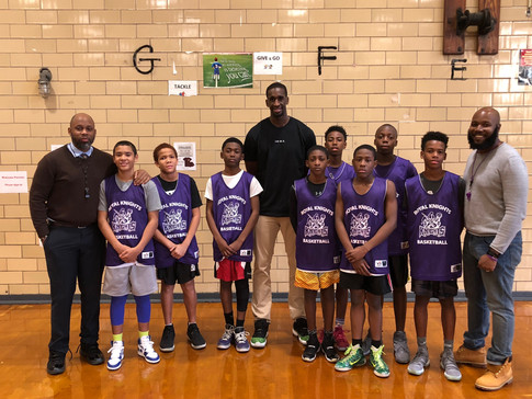 Royal Knights Varsity team with NBA player Ekpe Udoh