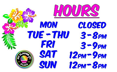 Fall Hours closed monday 8pm 9pm weekend