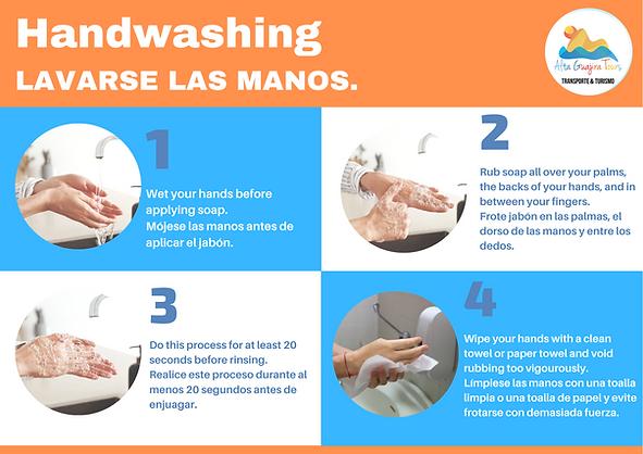 Blue and White Photo Handwashing 101 COV