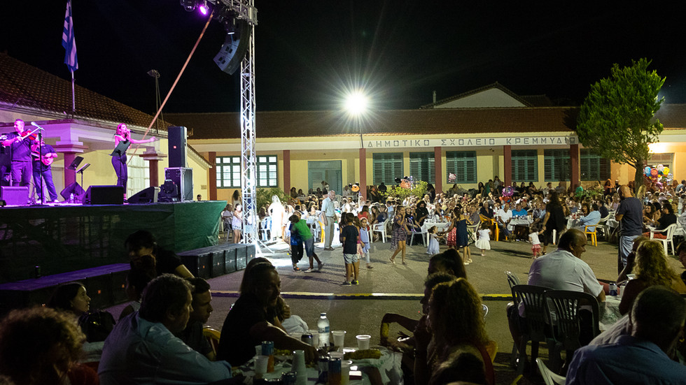 Kremydia, Messinia, Greece, Manifestations of 15th August, guest singer Giorgos Margaritis