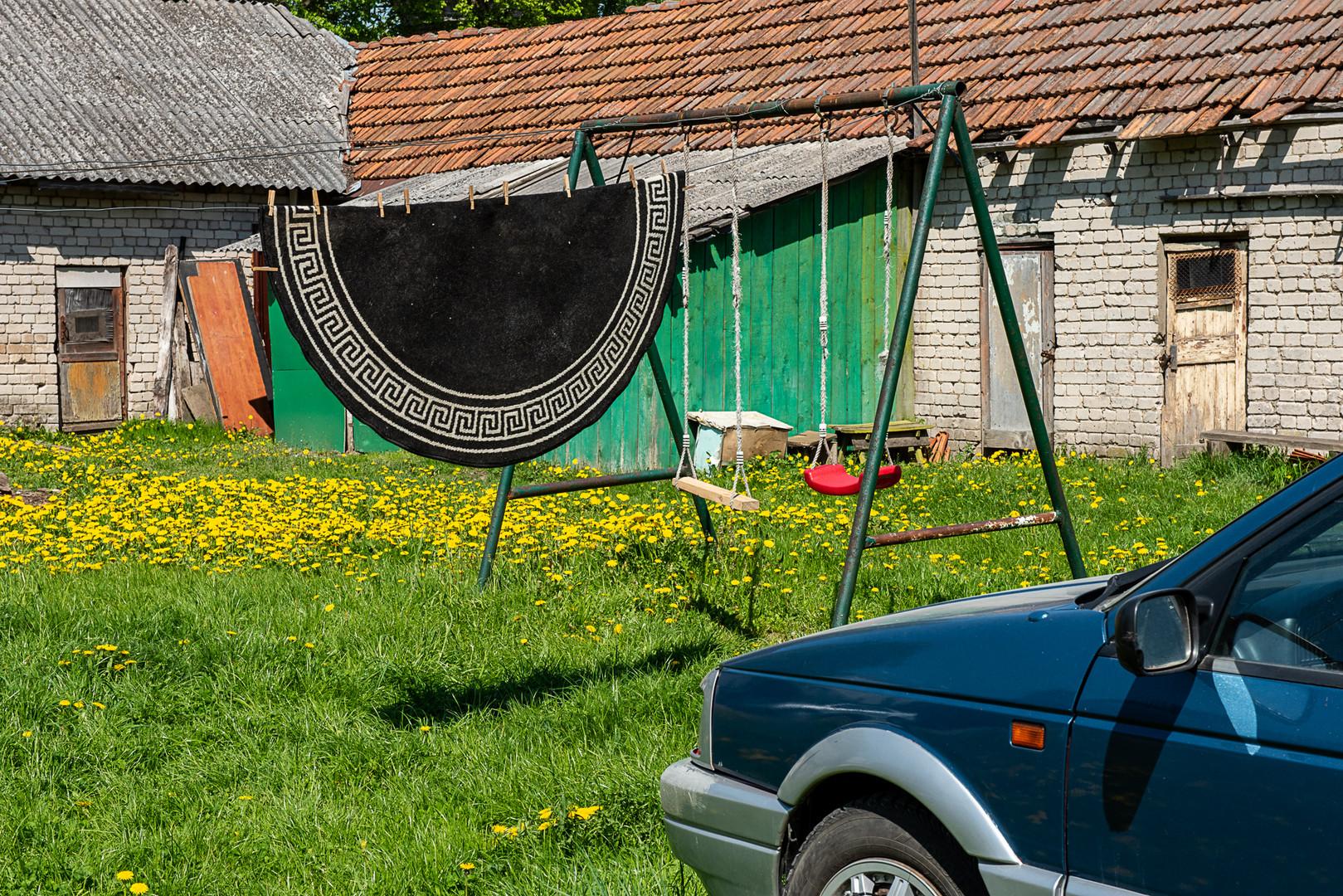 Siauliai, Lithuania, Back yard