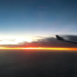 Fire in the sky at Sunrise... coming int