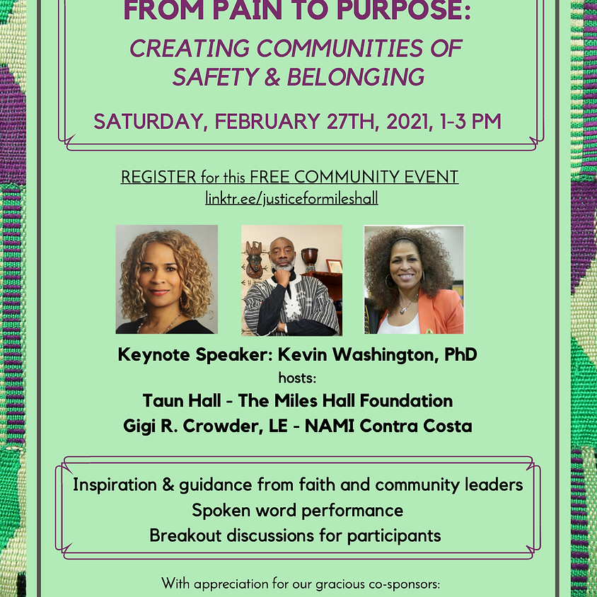 From Pain to Purpose: Creating Communities of Safety & Belonging