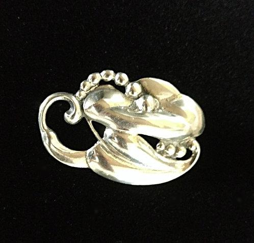 Vintage Art Nouveau Danecraft Sterling Silver Calla Lily Brooch