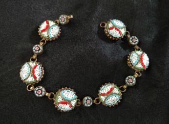 Italian Mosaic Circle Bracelet in Brass