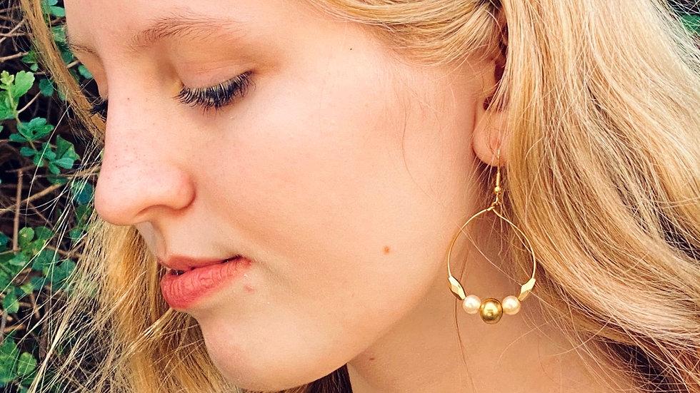 Handmade gold hoop earrings