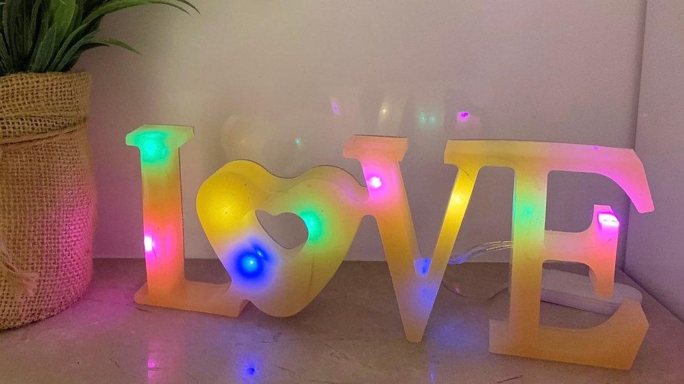Handmade LOVE resin light