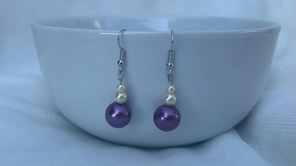 Beautiful purple drop earrings