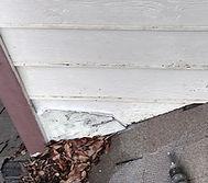 Damaged roof siding
