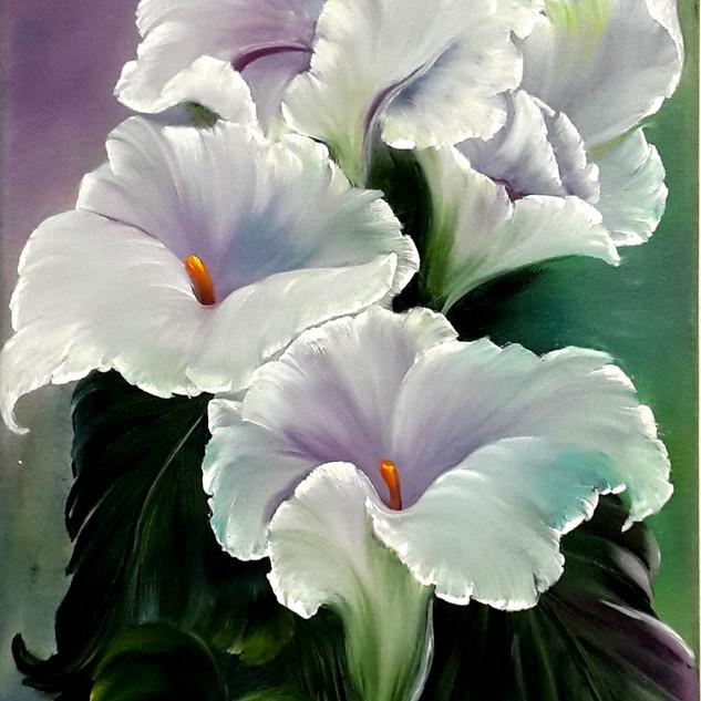 Fehér Liliom 30 x 70 vászon