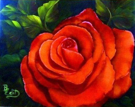 Piros Rózsa 30x40 olaj