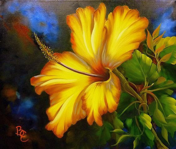 Sárga Hibiszkusz 50 x 60 vászon