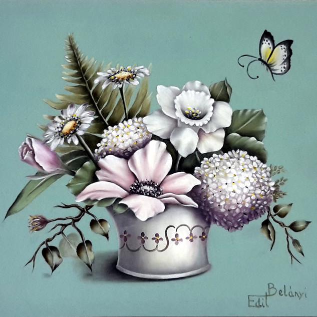Virágok kaspóban 20 x 30 lemez, Genesis