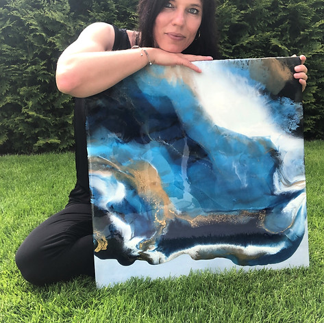 RESIN - Kunst BLUE ABSTRACT
