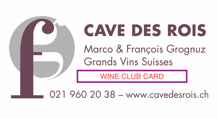 Wine Club Card
