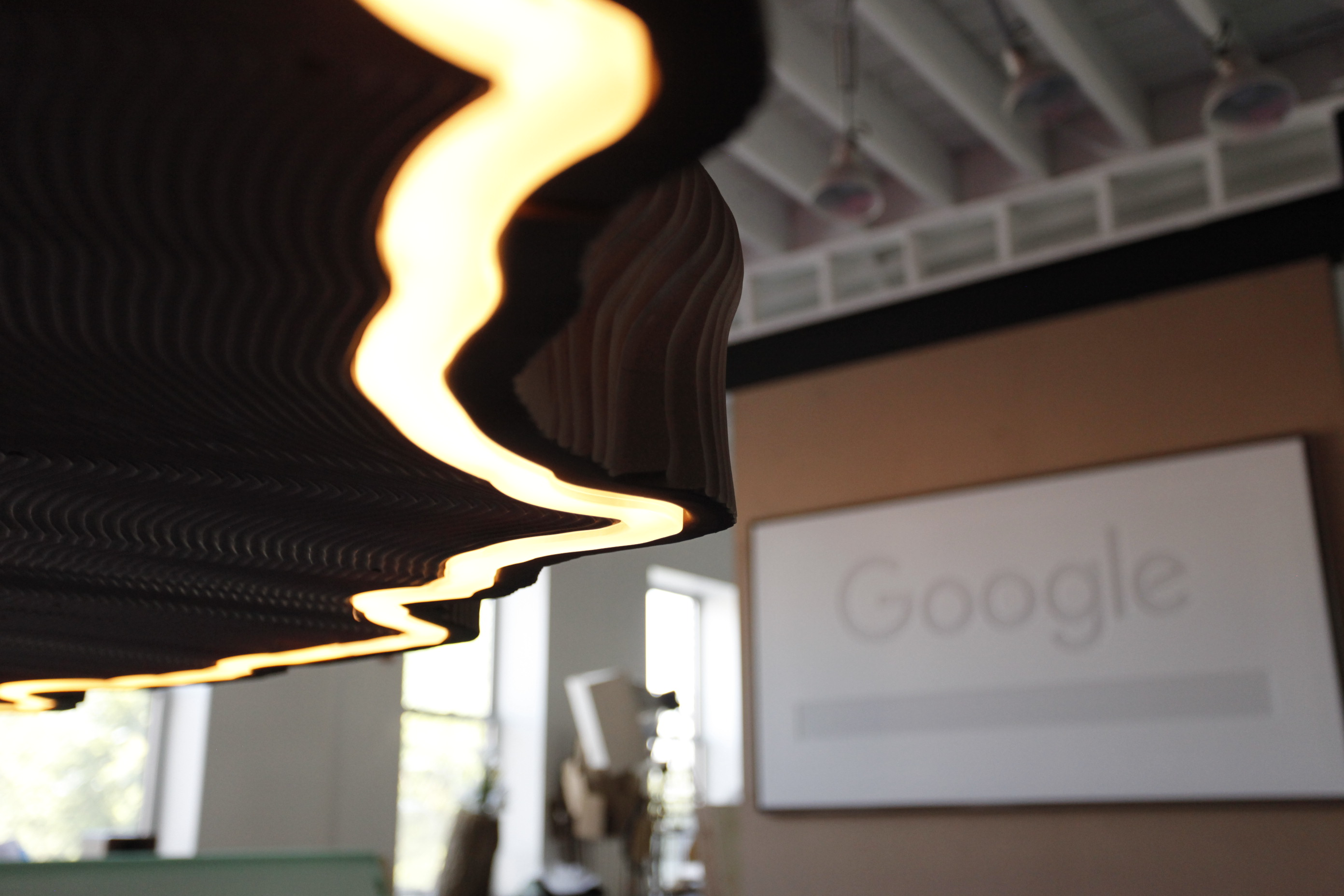 Chandelier Sapwood & Google Sign