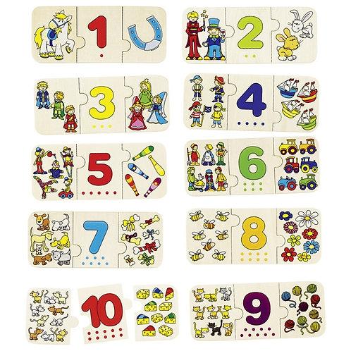 jouet montessori, puzzles bois, puzzle apprendre à compter, jouet en bois, jouets en bois, jouets de léa, goki