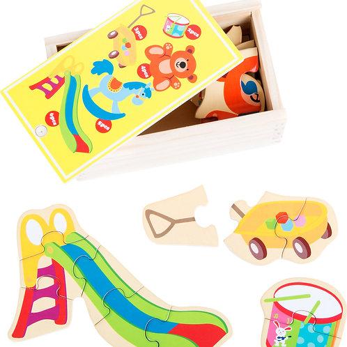 boîte de puzzle, jouet préféré, jouets en bois, jouets de léa