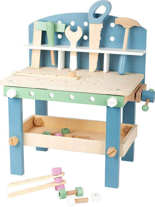 jouet montessori, jouets montessori, établi en bois, jouet en bois, jouets en bois, jouets de léa, small foot