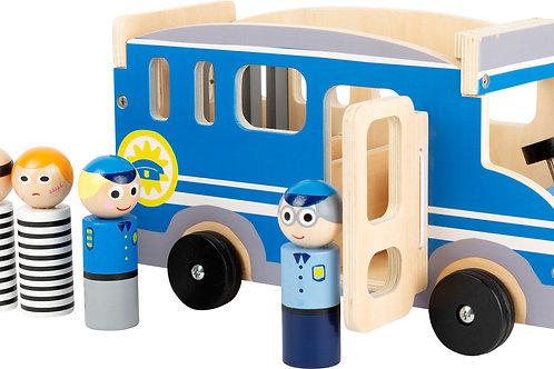 voiture en bois, voiture de police, jouet en bois, jouets en bois, jouets de léa, jouet montessori, jouets montessori