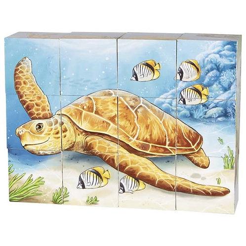 jouet montessori, puzzle cubes, jouet en bois, jouets en bois, goki, jouets de léa