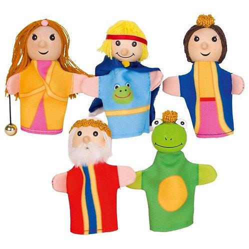 marionnettes à doigt, roi des grenouilles, jouets en bois, jouet en bois, jouets de léa