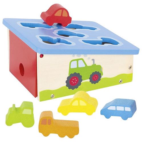 boîte à formes, véhicules en bois, jouets montessori, jouet en bois, jouets en bois, jouets de léa, goki
