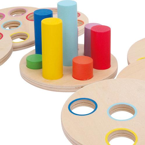 jeu à emboîter, jouet à encastrer, logisteck, jouets en bois, jouets de léa