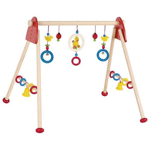 portique d'activités, heimess jouet en bois, jouets en bois, jouets de léa